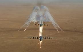 flares, military, Lockheed C, 130 Hercules