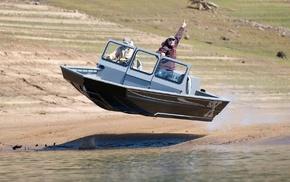 flying, boat
