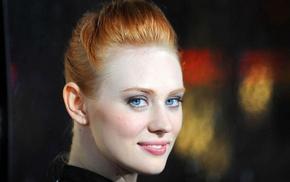Deborah Ann Woll, actress, closeup, girl, blue eyes, redhead