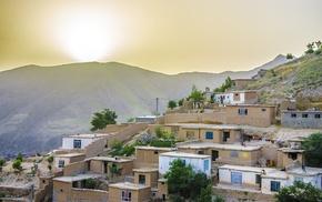 nature, landscape, green, Badakhshan, house, stone house