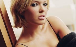 actress, looking at viewer, singer, Mandy Moore, blonde
