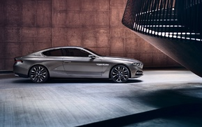 BMW Gran Lusso Coup, car, coupe, BMW, wall, modern