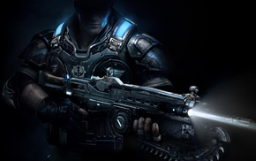 Gears of War, artwork, render, weapon, Gears of War 4, video games