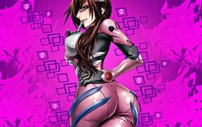 ecchi, Makinami Mari, anime girls, manga, Neon Genesis Evangelion, glasses