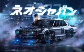 render, artwork, Khyzyl Saleem, Nissan Skyline C10, Neo Japan 2202, science fiction