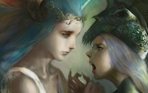fantasy art, artwork, vampires