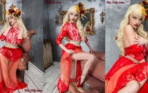 model, blonde, Katrina Wilkinson, collage, girl