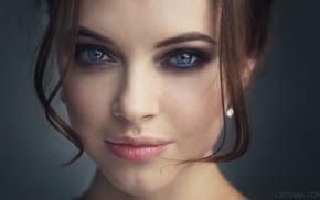 Libriana, smoky eyes, closeup, girl, brunette, Polina Bodrova