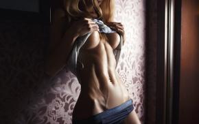 lingerie, blonde, boobs, photography, girl, Sveta Grashchenkova