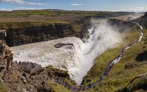 Iceland, landscape, nature, gullfoss