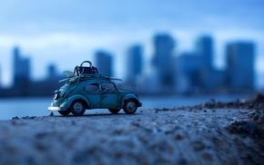 macro, car, toys, Volkswagen Beetle, depth of field
