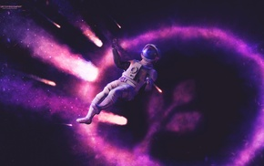 astronaut, Desktopography, digital art, artwork