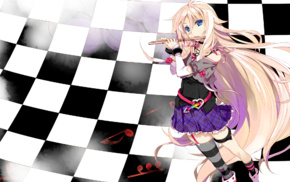 checkered, anime girls, anime, Vocaloid, IA Vocaloid