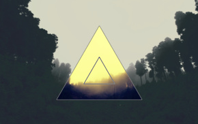 triangle, polyscape, forest