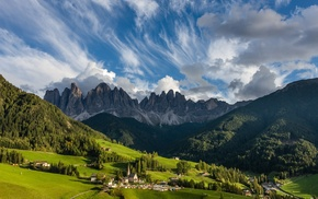 nature, Alps, Italy, summer, grass, mountains