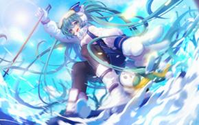 Yuki Miku, Hatsune Miku, anime, Vocaloid, Snow Miku 2016