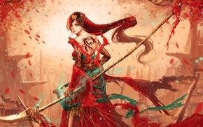 fantasy art, artwork, girl, warrior