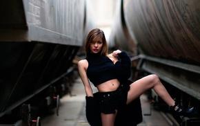 train, girl, model