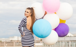 balloon, model, girl
