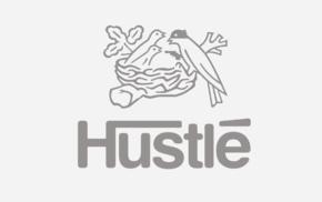 logo, hustle