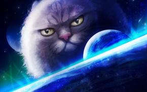 fantasy art, cat, artwork