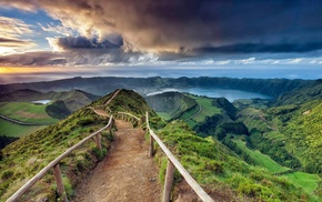 nature, photography, path, landscape, Azores, sea
