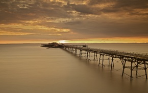 pier, coast, landscape, water, photography, nature