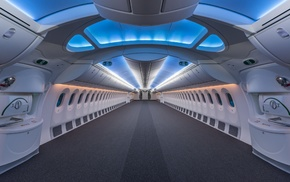 symmetry, Boeing, interior, jet fighter, modern, luxury