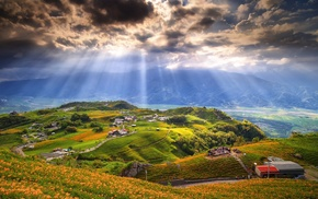 landscape, clouds, field, Taiwan