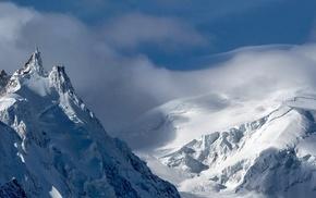 triple screen, landscape, mountains, snow
