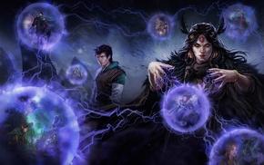fantasy art, magician, artwork