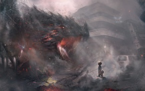dragon, fantasy art