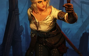 The Witcher, The Witcher 3 Wild Hunt, fantasy girl, fantasy art, video games, Cirilla Fiona Elen Riannon