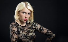 model, see, through clothing, girl, portrait, blonde