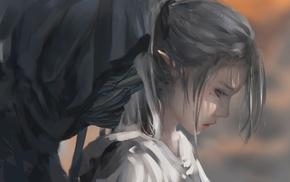 elves, fantasy art, WLOP