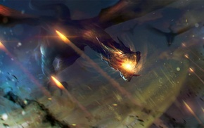 dragon, fantasy art, artwork