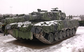 Leopard 2, camouflage, military, army, tank