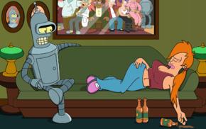 Bender, Turanga Leela, Futurama