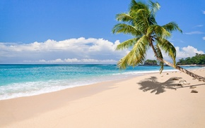 clouds, beach, sand, landscape, tropical, summer