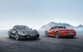 car, vehicle, Porsche 718 Boxster S, Porsche Boxster, Convertible, red cars