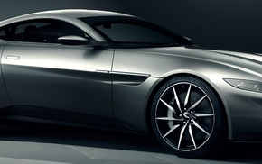 multiple display, dual monitors, vehicle, car, simple background, Aston Martin DB10