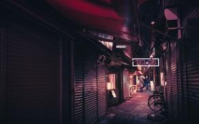 street, city, night