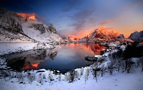 landscape, winter, Norway, nature