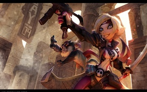 Johannes Helgeson, weapon, sword, blonde, short hair, suits