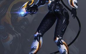 power suit, space suit, science fiction, legs, weapon, simple background