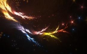 abstract, artwork, digital art, lights