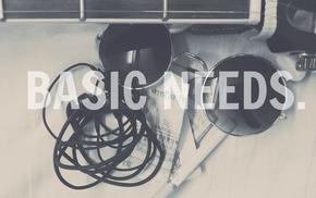 money, guitar, cigarettes, glasses, headphones