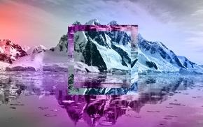 mountains, ice