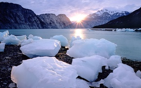 water, photography, ice, lake, mountains, nature