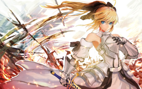 anime girls, Saber Lily, anime, Fate Series